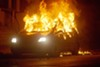 Neighbors lit a car on fire at Page and Walton in August 2015 to protest the police shooting of Mansur Ball-Bey.
