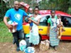 Alhaji Jalloh, co-founder of Cry4humanity, returns two mothers and their babies back to their village after a long stay in the hospital for treatment of malnutrition.