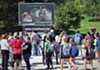 Students at the University of Toledo are confronted by photos graphically depicting abortion.