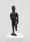 Sanford Biggers, <i>BAM (for Michael)</i>, 2016. Bronze with black patina, 19 x 6 x 4 inches. Collection of Dr. Daniel Berger, Chicago. Courtesy the artist; Monique Meloche Gallery, Chicago; Marianne Boesky Gallery, New York and Aspen; and Massimo De Carlo, Milan/London/Hong Kong. © Sanford Biggers.