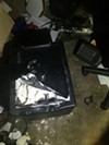 A pried open safe was left inside the house of KKK leader Frank Ancona.