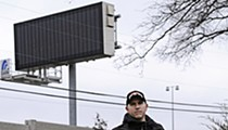 Sign of the Times: The inescapable presence of a towering message board on Highway 40 has some Frontenac residents seeing red