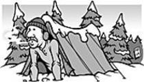 Camping  in a Winter Wonderland