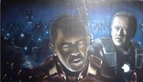 Barack Obama + Joe Biden ÷ Iron Man = Best Painting Ever