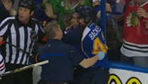 Blackhawks Player Taunts Backes After Brutal, Illegal Hit; Blues Fan Shows Boobs