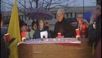 Coffin Set Up on Congressman Russ Carnahan's Lawn