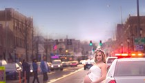 Mom-To-Be Bares Her Belly, Poses with Cop Cars in Delmar Loop Photo Shoot [PHOTOS]