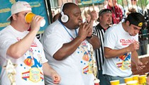 Watch the Nathan's Hot Dog Eating Contest at Busch in All Its Disgusting Glory