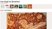"Van Gogh's ""Starry Night"" Rendered in Bacon"