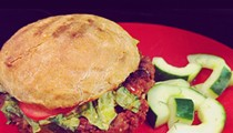 Guess Where I'm Eating this Vegetarian Burger and Win  $10 to Porter's Fried Chicken [Updated]!