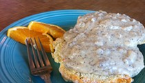 Guess Where I'm Eating these Biscuits and Gravy and Win $10 to La Tejana Taqueria [Updated]!