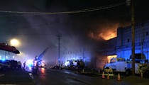 Fire Engulfs Warehouse in The Hill (PHOTOS)