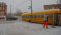 Watch This St. Louis Pothole Attempt to Eat a Whole School Bus