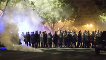 Police Teargas Protesters in the Central West End After Vandalism to Mayor's Home