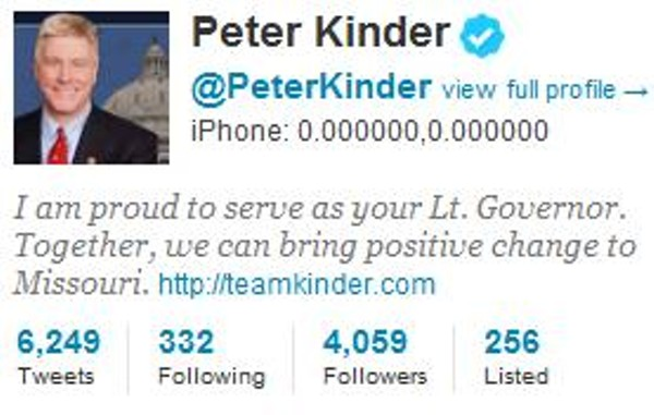 Peter Kinder Second to Anthony Weiner in Embarrassing ...