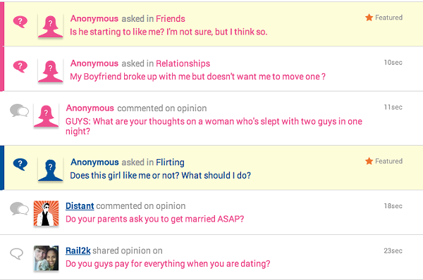 Sexual dating questions