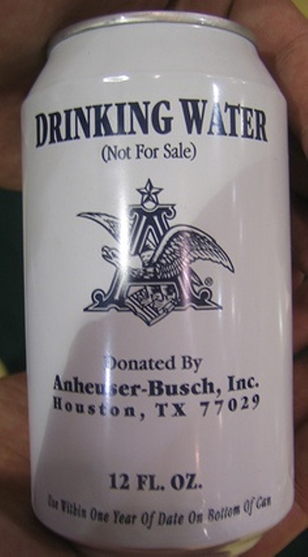 Anheuser-Busch Sends 350,000 Cans of Water To Haiti ...