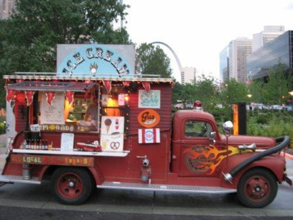 St Louis Beloved Fire Amp Ice Cream Truck Is For Sale