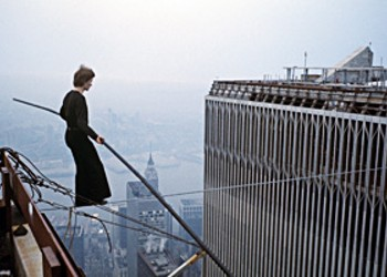 Towering Cinema: Philippe Petit's World Trade Center tightrope walk was made for the movies