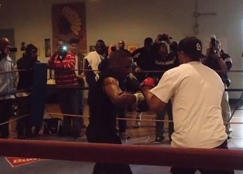 Devon Alexander and Co. Hit the Mitts for the Cameras