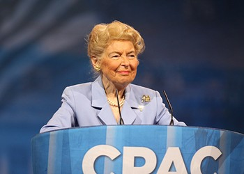 Phyllis Schlafly: College Women Get Raped Because There Are Too Many Women in College