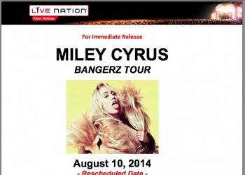 Sorry, Miley Fans, You Need to Buy New Tickets to the Rescheduled St. Louis Show
