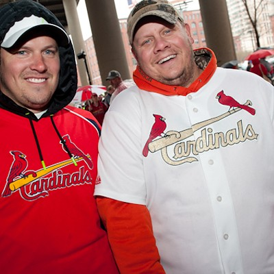 Rain Can't Dampen Cardinals Fever During Home Opener