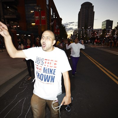 Cardinals Fans & Ferguson Protesters at Final Regular-Season Home Game