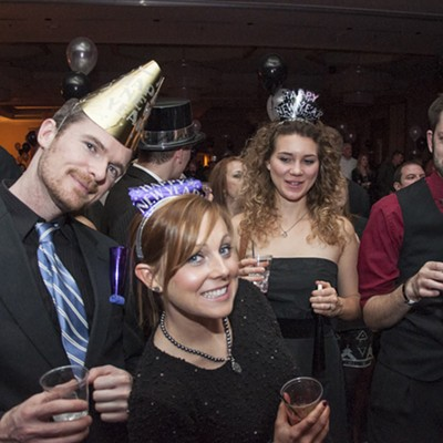 Partying and Protests Ring in 2015 at the Hyatt Regency