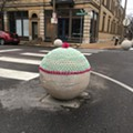 Woman Crochets Giant Ball-Sized Hat to Warm Up St. Louis' Giant Balls