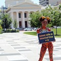 Half-Naked Woman Protests Circus for PETA