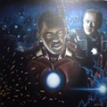 Barack Obama + Joe Biden ÷ Iron Man = Best Painting Ever