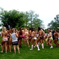 Attempt to Break Record for World's Largest Bikini Parade Fails in Forest Park