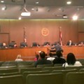 St. Louis County Council Meeting Sees Ferguson Protesters and One Darren Wilson Supporter