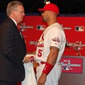 Photos: Albert Pujols Decides to Let Missouri Governor Live at All-Star Press Conference