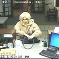 Photo: Suspect With Gray Wig, Red Lipstick, Unknown Gender, Robs Columbia Bank