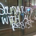Protestors Tag Downtown Banks, Get Cuffed