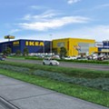 I-K-E-A Letters Get Installed Today on New St. Louis IKEA Store