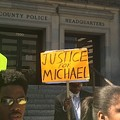 Clayton Protest Over Michael Brown's Killing Stresses Peaceful Solution to Unrest