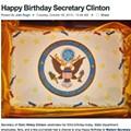 Happy Birthday, Madam Secretary, Have Some <strike>Pillow</strike> Cake!