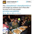 Judah Friedlander Buys Firebird Crowd Imo's Pizza After Show, Jimmy Kimmel Still Hates It [Update]