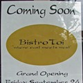 Coming Soon: Bistro Toi
