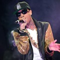 Chris Brown, Kelly Rowland, T-Pain and Tyga at the Verizon Wireless Amphitheater: Photos