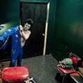 Clownvis Presley Prepares in the Green Room at the Firebird: A Paint Story