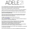 Adele's Tour Rider: Mandatory Charity and Absolutely No North American Beer