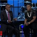 "Nelly Wins Baseball Bet With Arsenio Hall; Hall Must Perform ""Country Grammar"" in Cardinals Jersey"