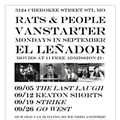 Rats & People Motion Picture Orchestra's El Lenador Residency Starts Monday