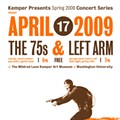 Show Flyer: The 75s and Left Arm at the Kemper Art Museum,