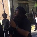 """Armed Protesters March Through CWE, Chanting """"Who Killed Darren Seals?"""""""