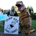 The Best Signs, Styles and Weirdos Outside the Wash U Presidential Debate